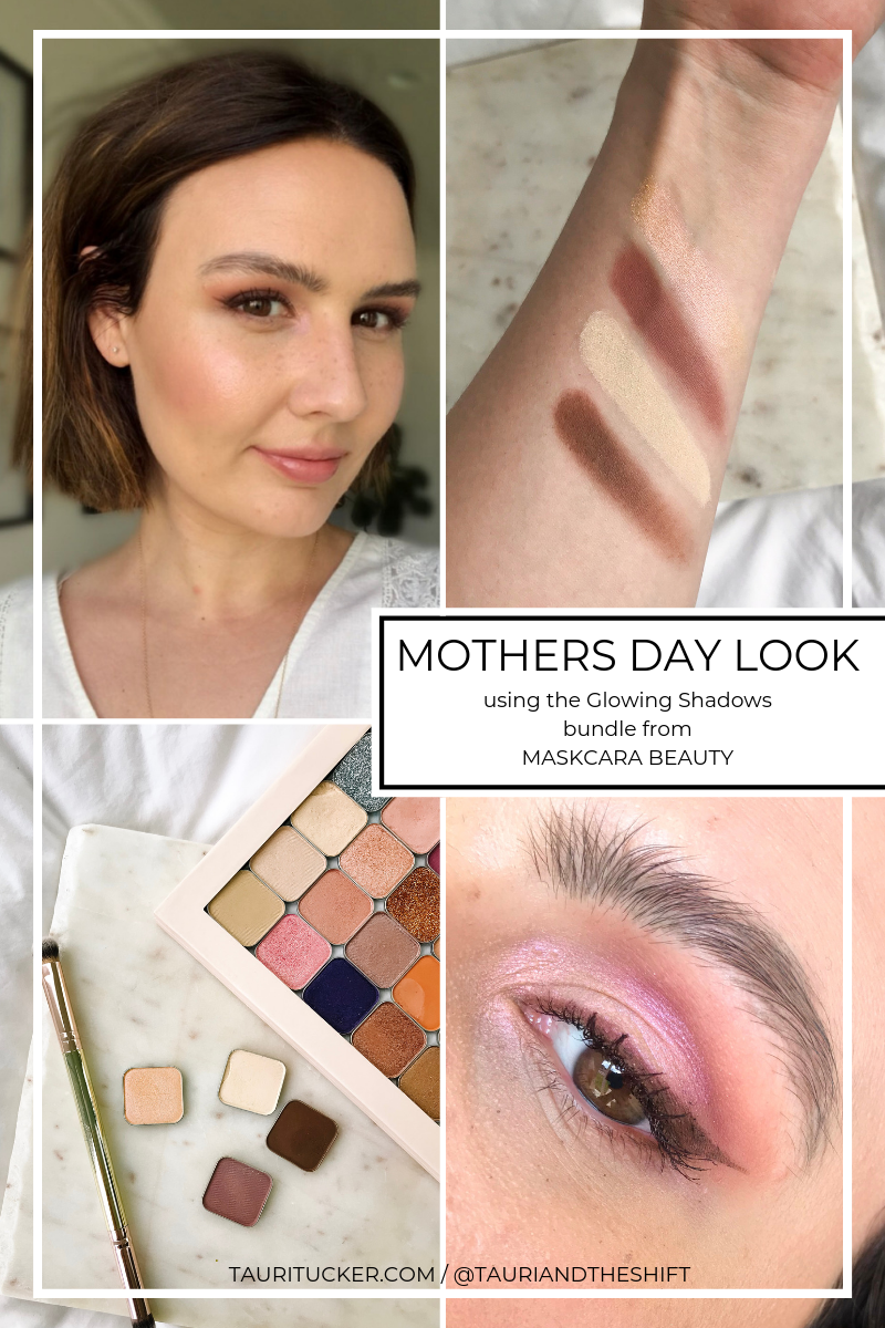 mothers day eyeshadow look glowing shadows bundle from maskcara beauty tauritucker.com
